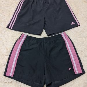Nike & adidas gym shorts (2 for 1)